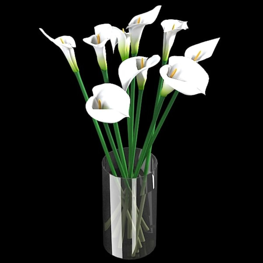 White calla lilies flower bouquet vase 30 3d model 30 x obj white calla lilies flower bouquet vase 30 royalty free 3d model preview no izmirmasajfo