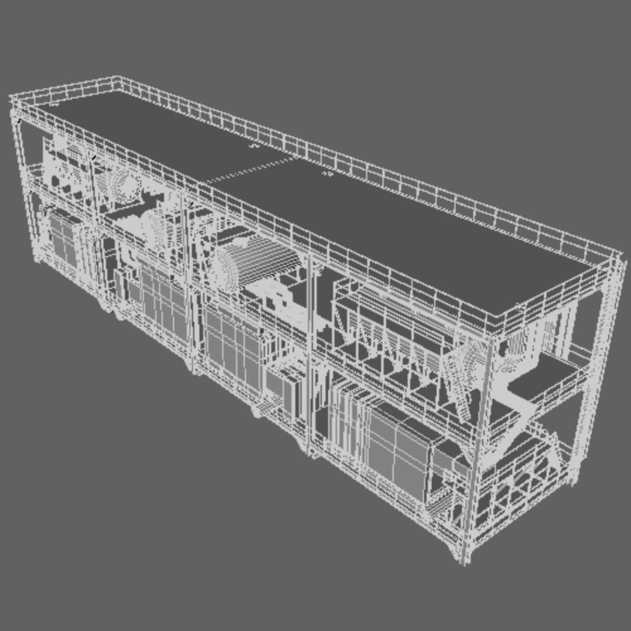 Planta industrial royalty-free 3d model - Preview no. 9