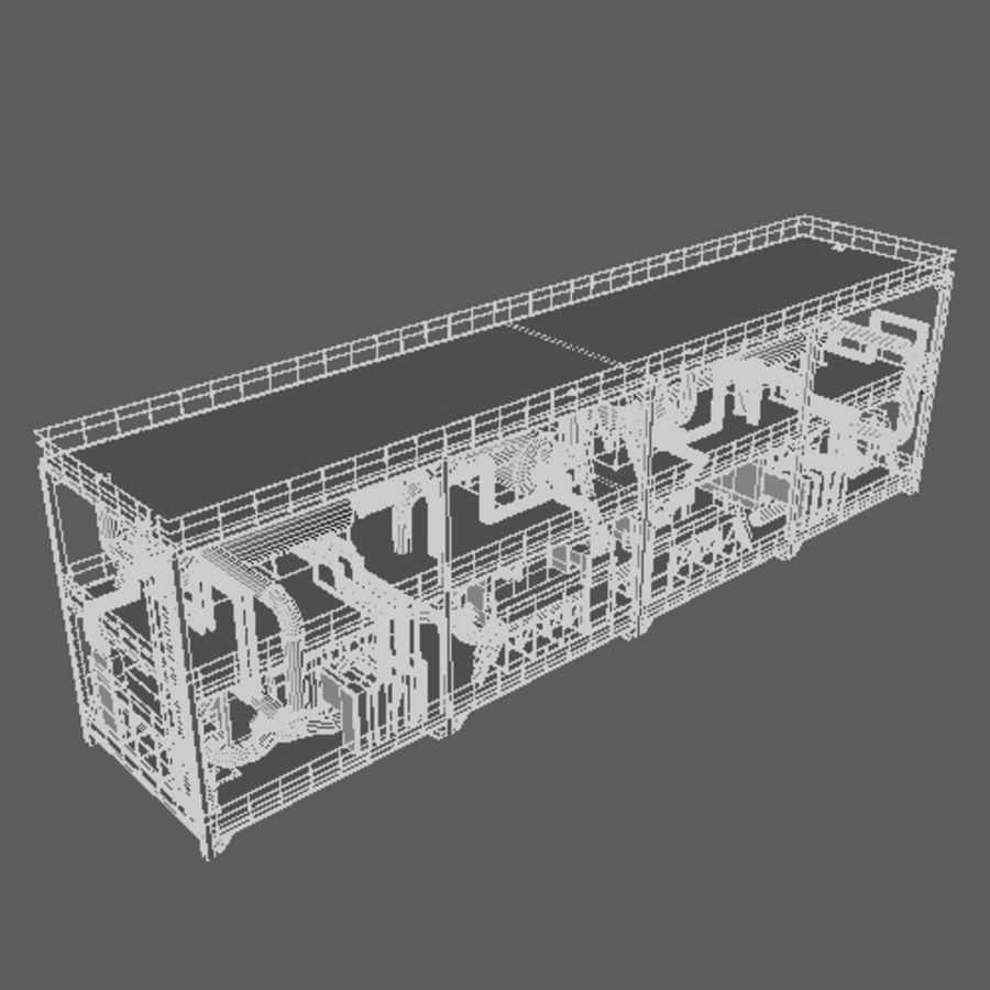 Planta industrial royalty-free 3d model - Preview no. 10