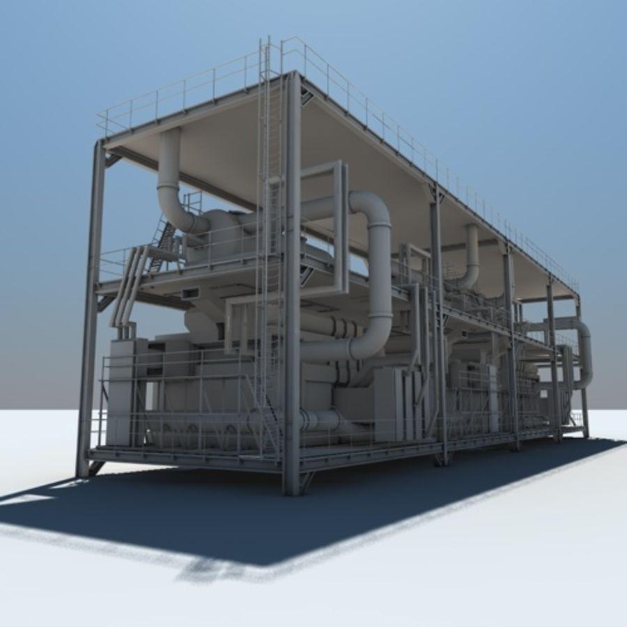 Planta industrial royalty-free 3d model - Preview no. 1