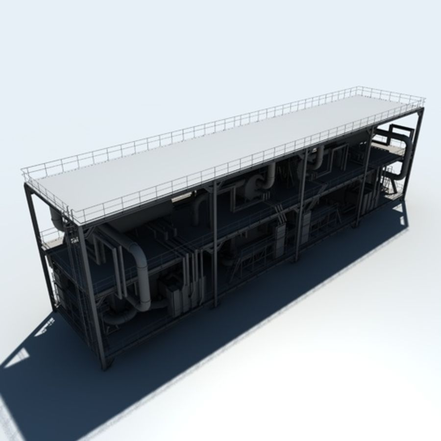 Planta industrial royalty-free 3d model - Preview no. 8