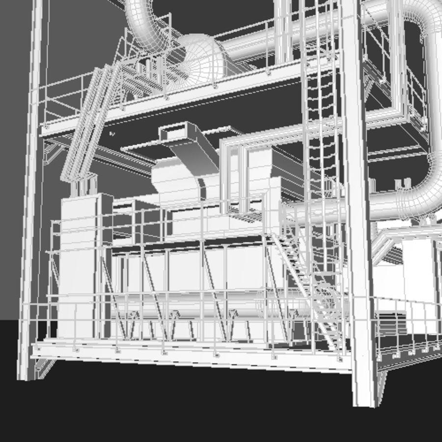 Planta industrial royalty-free 3d model - Preview no. 11