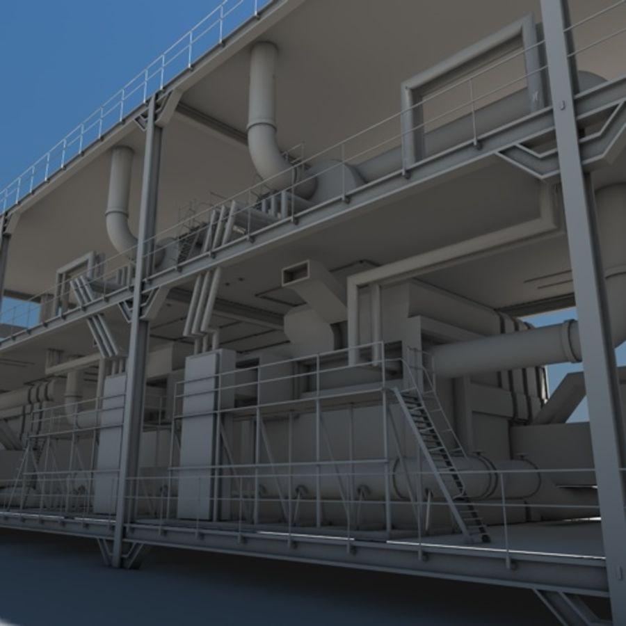 Planta industrial royalty-free 3d model - Preview no. 2