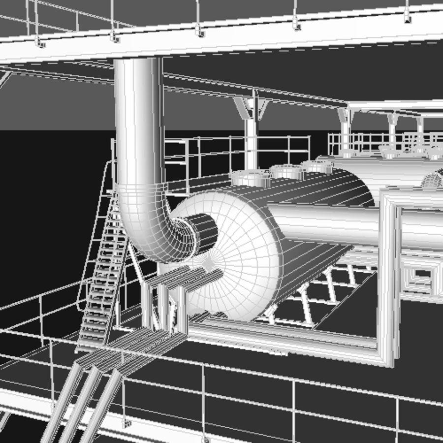 Planta industrial royalty-free 3d model - Preview no. 12