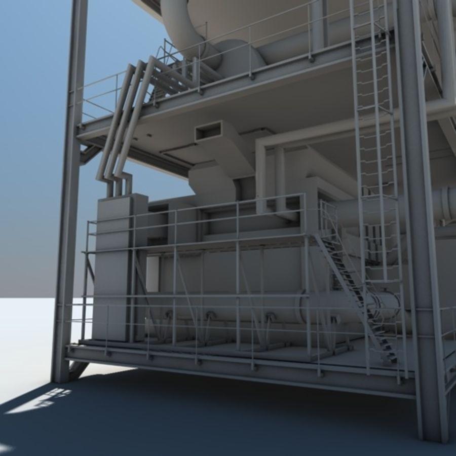 Planta industrial royalty-free 3d model - Preview no. 3