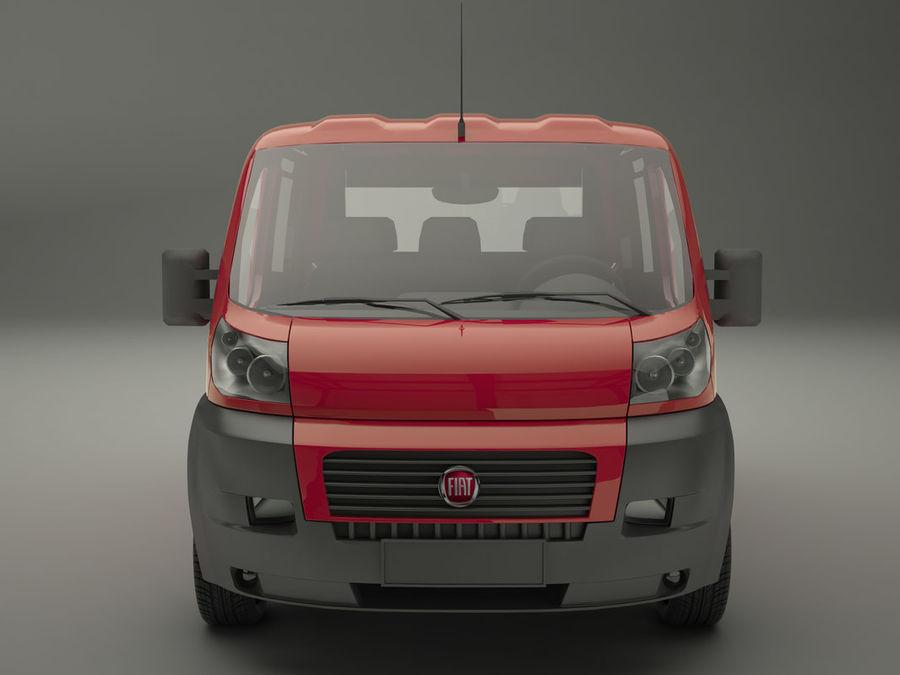 Fiat Ducato VAn royalty-free 3d model - Preview no. 3