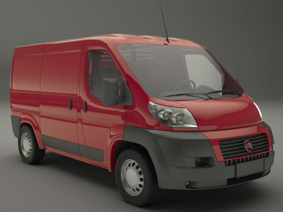 Fiat Ducato VAn royalty-free 3d model - Preview no. 1