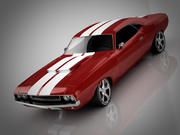 Dodge Challenger red race 3d model