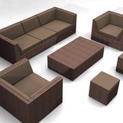 Vävda möbler Set 3d model