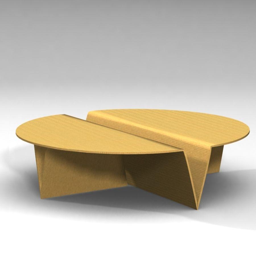Conjunto de muebles de cartón royalty-free modelo 3d - Preview no. 3