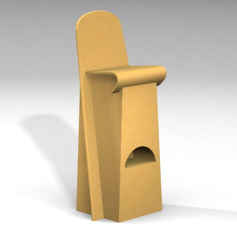 Conjunto de muebles de cartón royalty-free modelo 3d - Preview no. 6