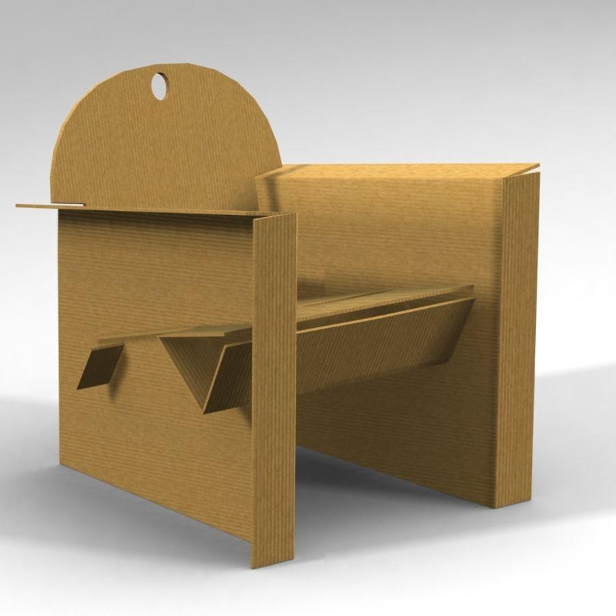 Conjunto de muebles de cartón royalty-free modelo 3d - Preview no. 2