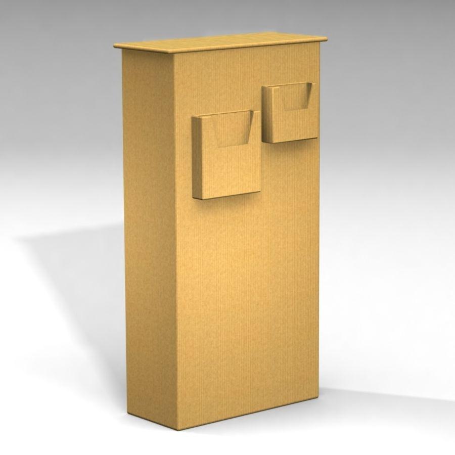 Conjunto de muebles de cartón royalty-free modelo 3d - Preview no. 7