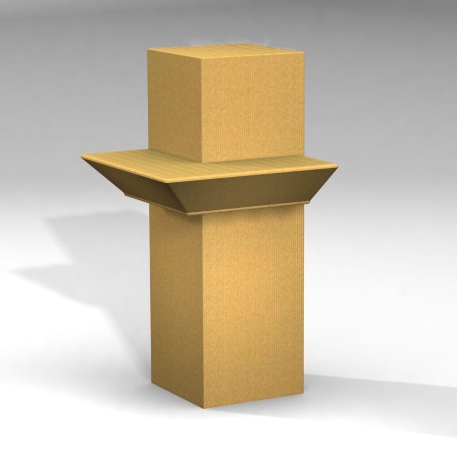 Conjunto de muebles de cartón royalty-free modelo 3d - Preview no. 5