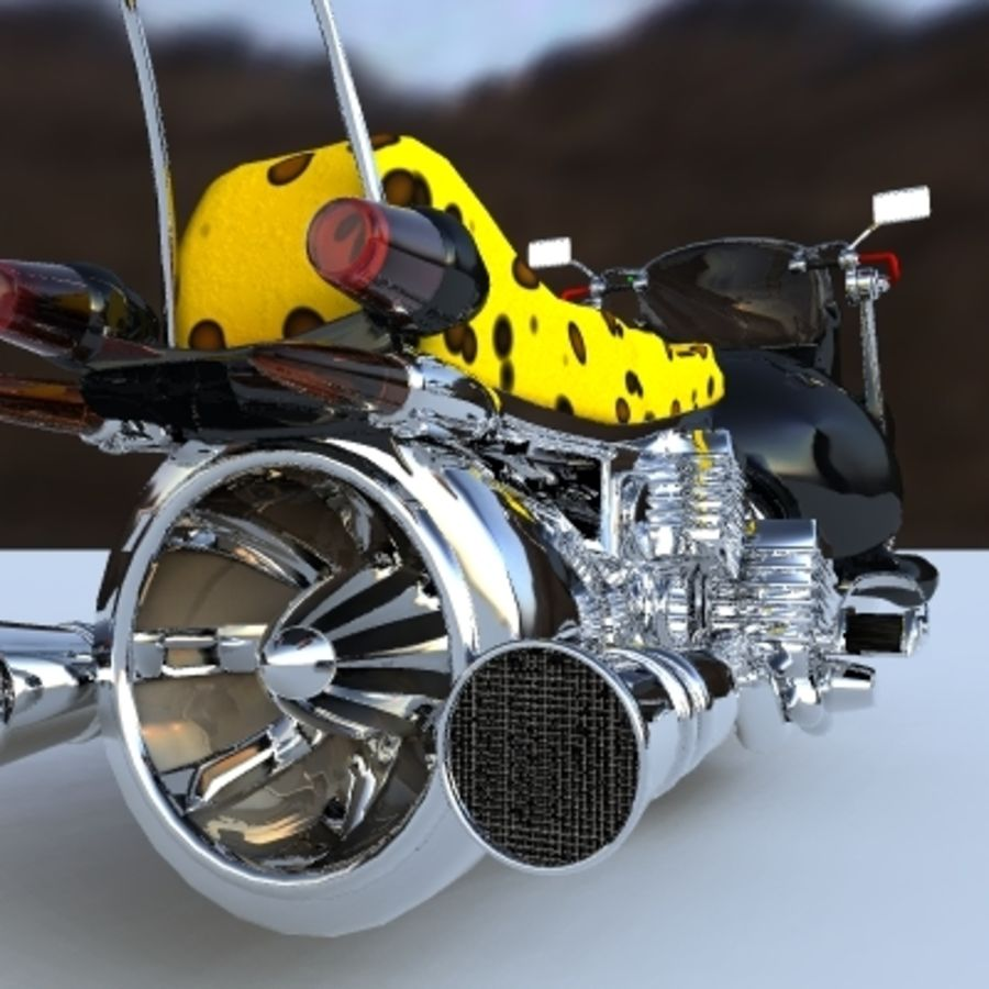 Hover Bikes royalty-free 3d model - Preview no. 7