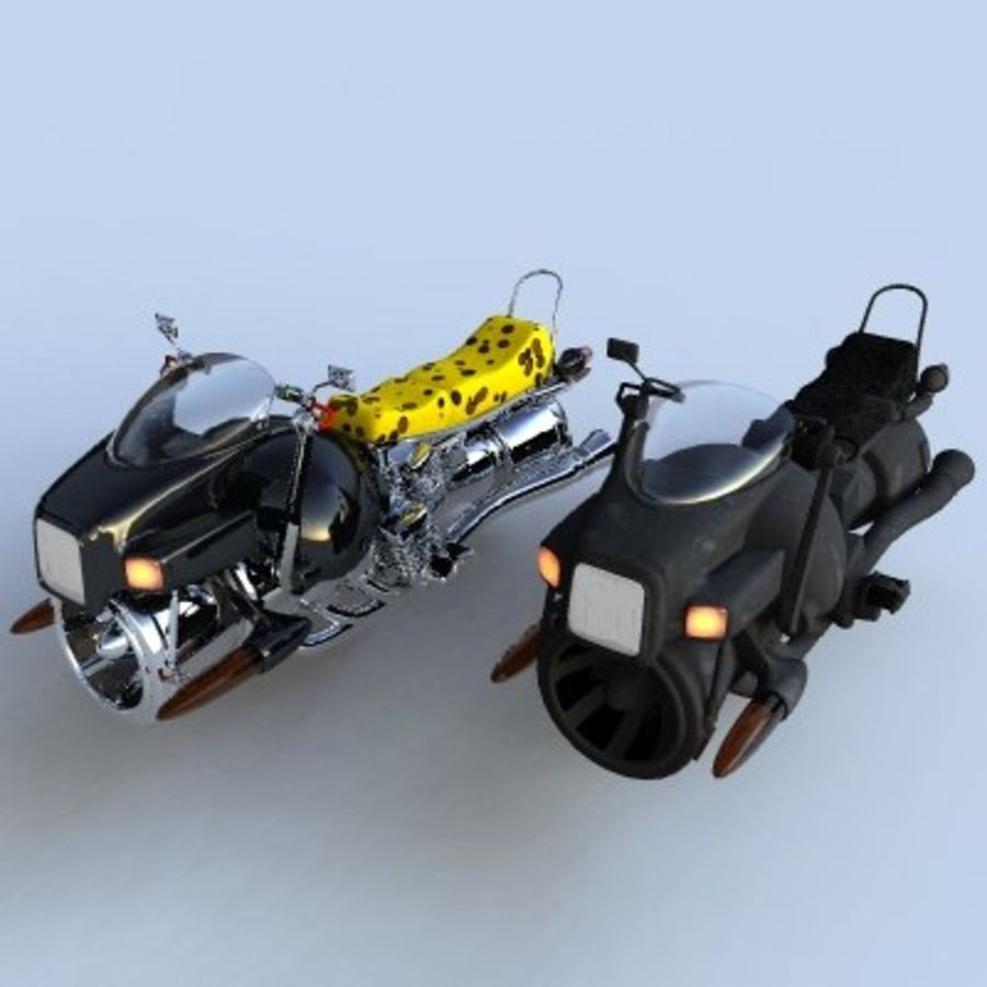 Hover Bikes royalty-free 3d model - Preview no. 1