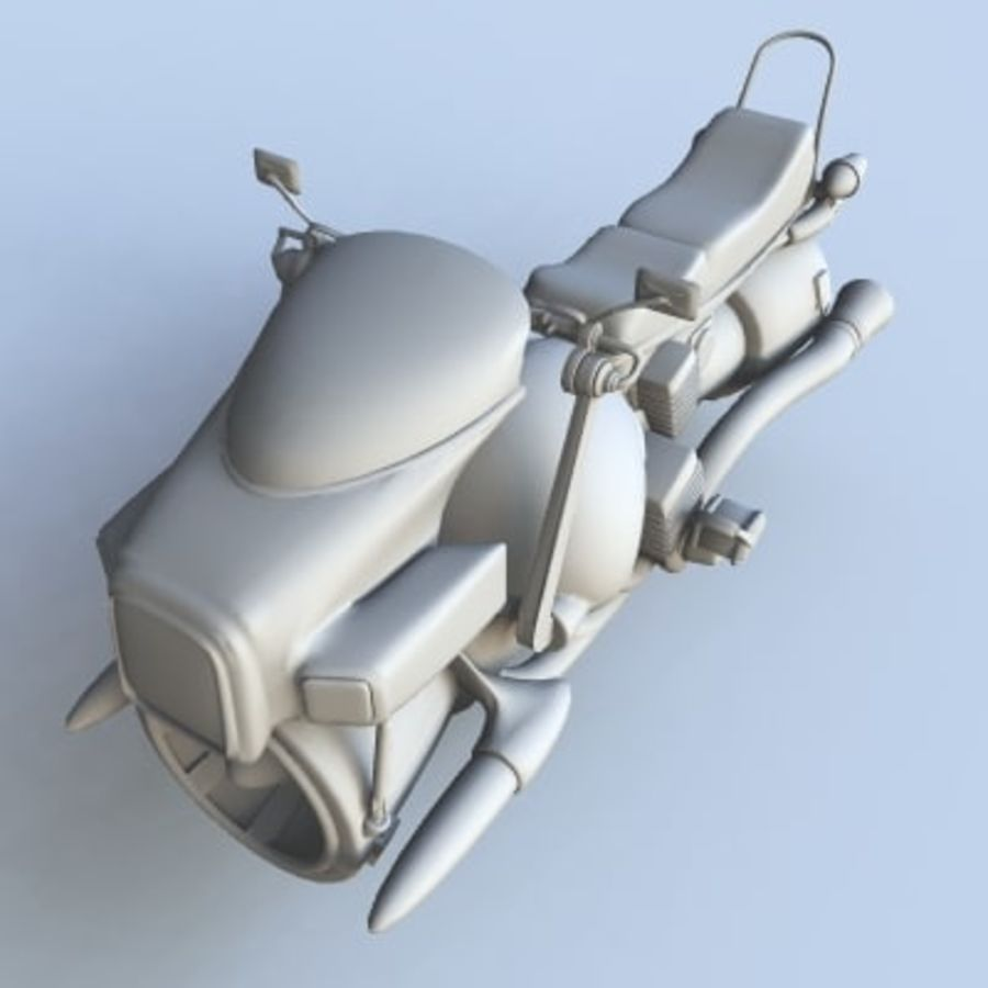 Hover Bikes royalty-free 3d model - Preview no. 2
