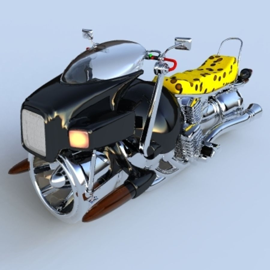 Hover Bikes royalty-free 3d model - Preview no. 4