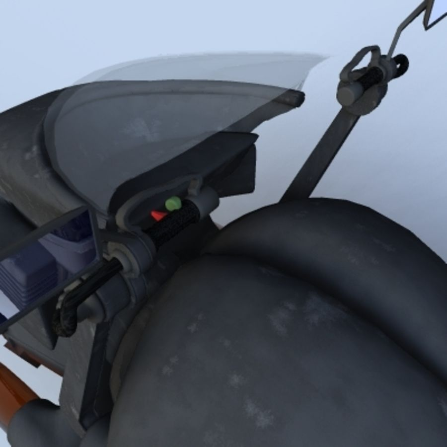 Hover Bikes royalty-free 3d model - Preview no. 19
