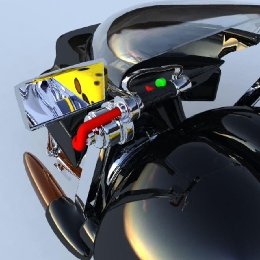 Hover Bikes royalty-free 3d model - Preview no. 10