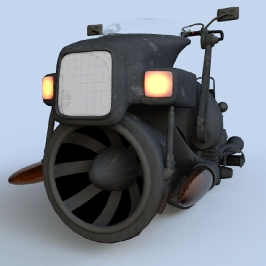 Hover Bikes royalty-free 3d model - Preview no. 17