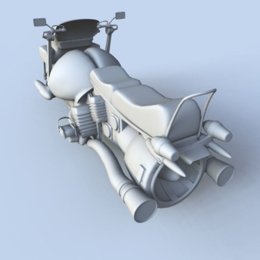 Hover Bikes royalty-free 3d model - Preview no. 3