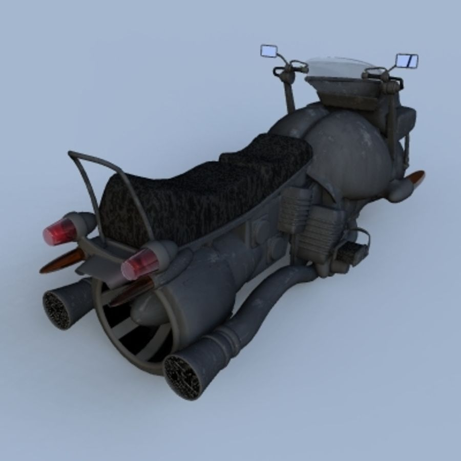 Hover Bikes royalty-free 3d model - Preview no. 15