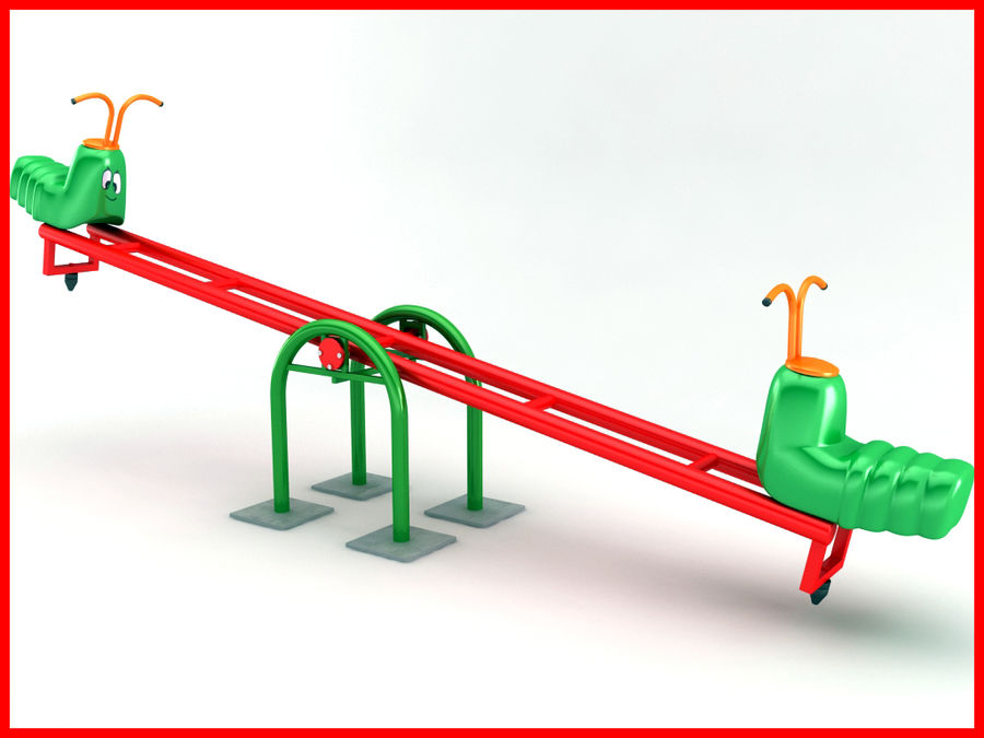 See-Saw Swing royalty-free 3d model - Preview no. 2