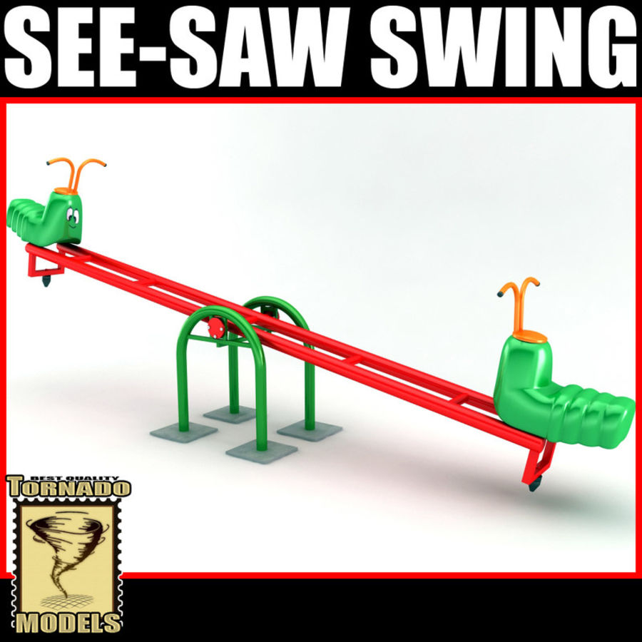 See-Saw Swing royalty-free 3d model - Preview no. 1