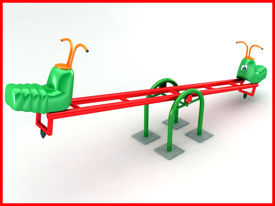See-Saw Swing royalty-free 3d model - Preview no. 3