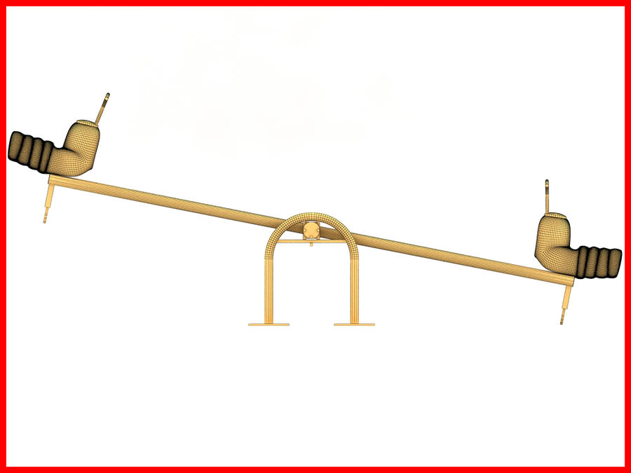 See-Saw Swing royalty-free 3d model - Preview no. 9