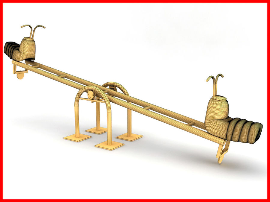 See-Saw Swing royalty-free 3d model - Preview no. 6