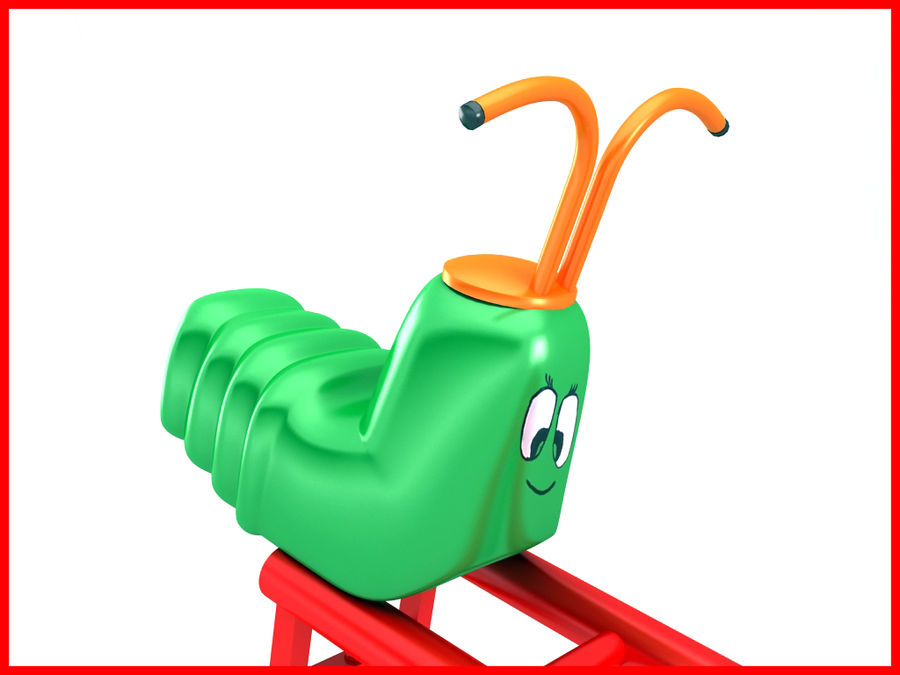 See-Saw Swing royalty-free 3d model - Preview no. 11