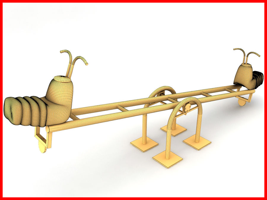 See-Saw Swing royalty-free 3d model - Preview no. 7