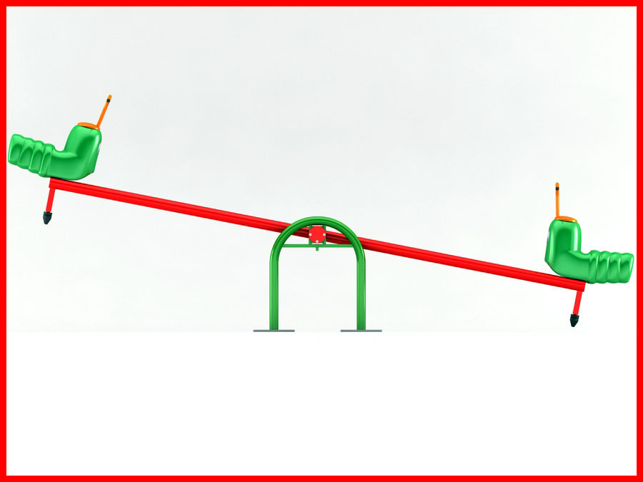 See-Saw Swing royalty-free 3d model - Preview no. 4