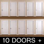 10 interiördörrar 3d model