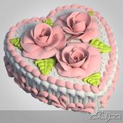 Heart shaped Cake 3d model