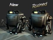 저 폴리 유지 로봇 (끈적임) 3d model