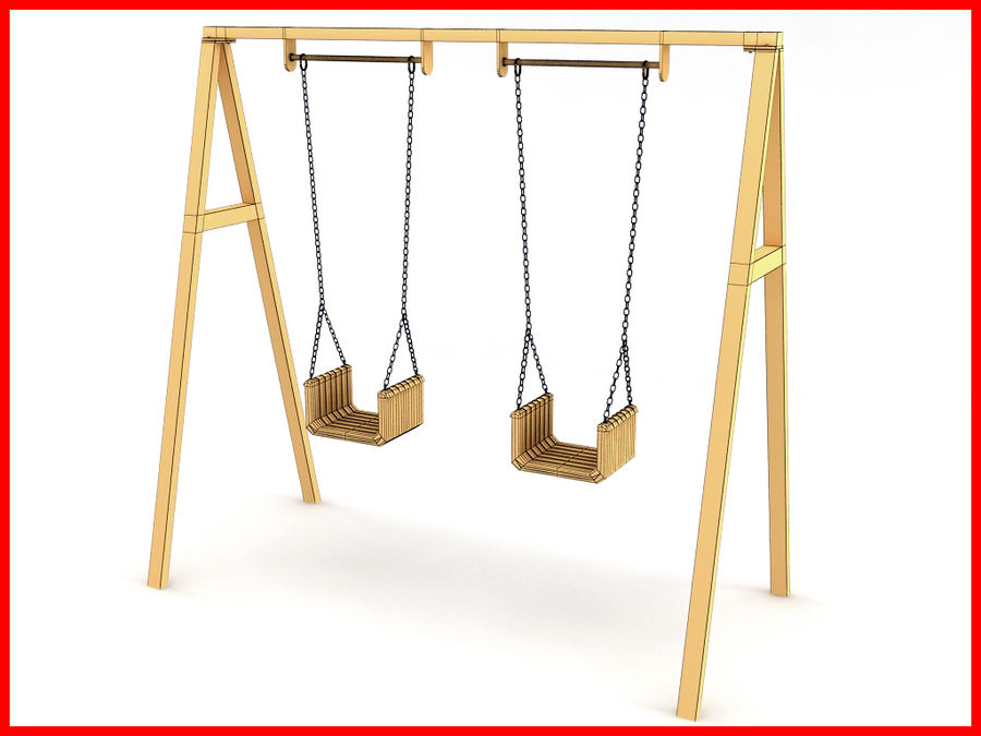Double Swing royalty-free 3d model - Preview no. 5