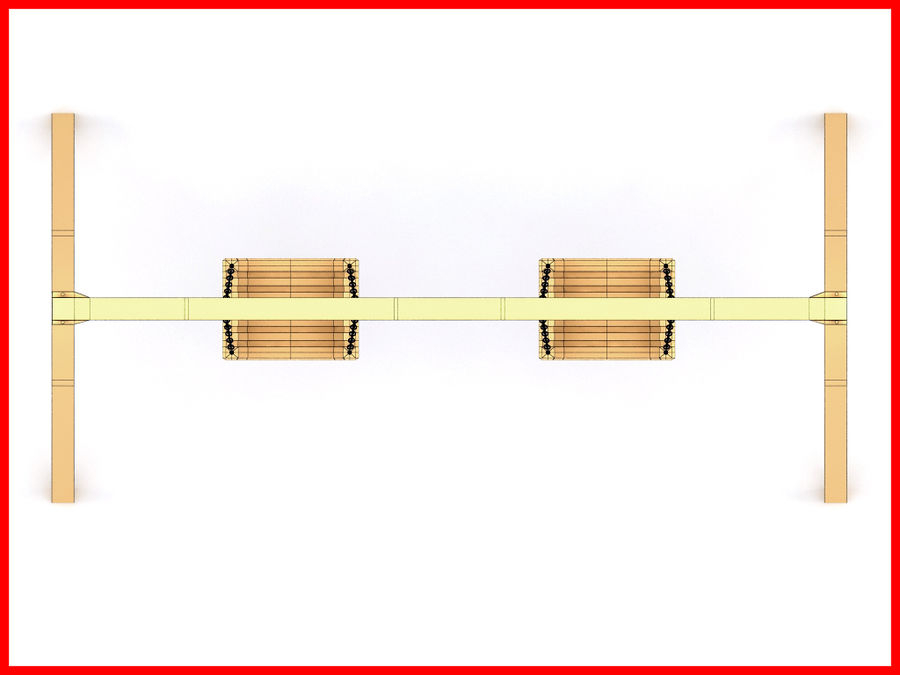 Double Swing royalty-free 3d model - Preview no. 9