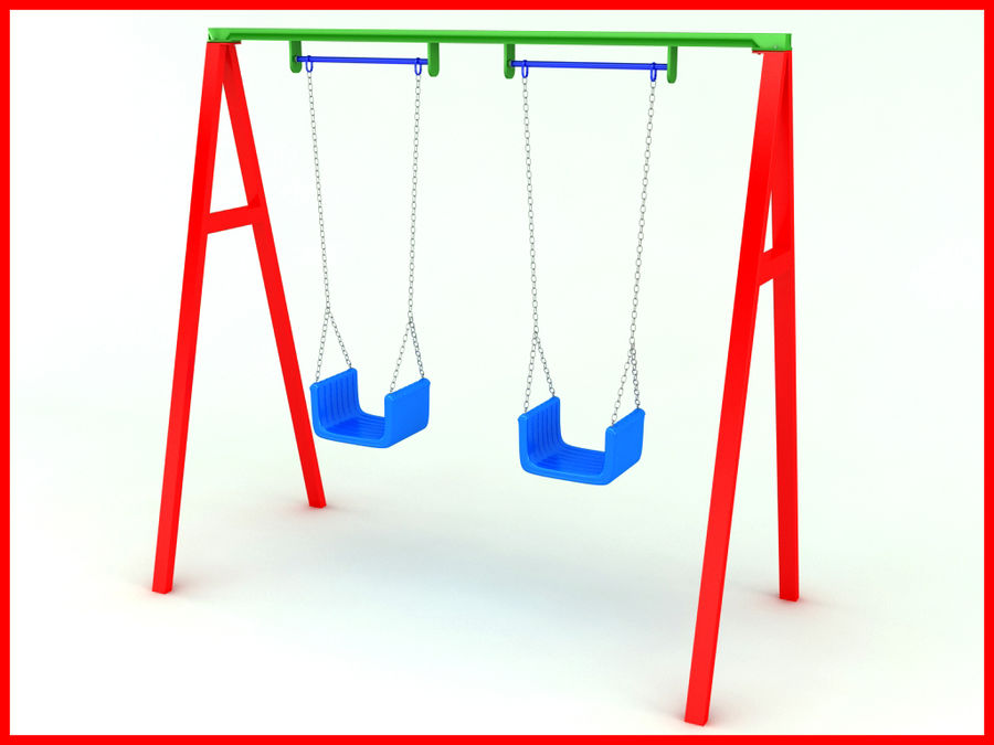 Double Swing royalty-free 3d model - Preview no. 2