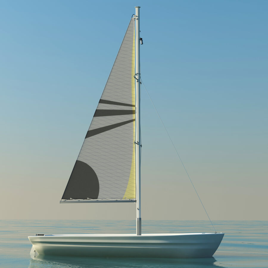 Kleines Segelboot royalty-free 3d model - Preview no. 1