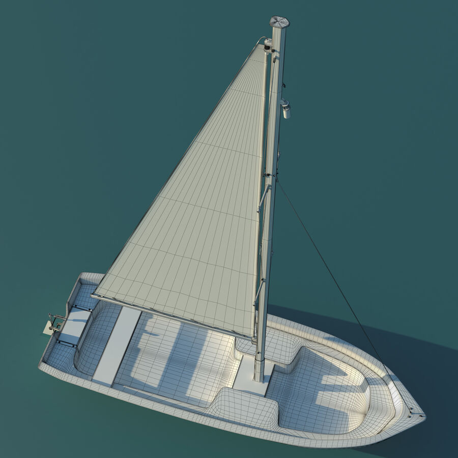 Kleines Segelboot royalty-free 3d model - Preview no. 5