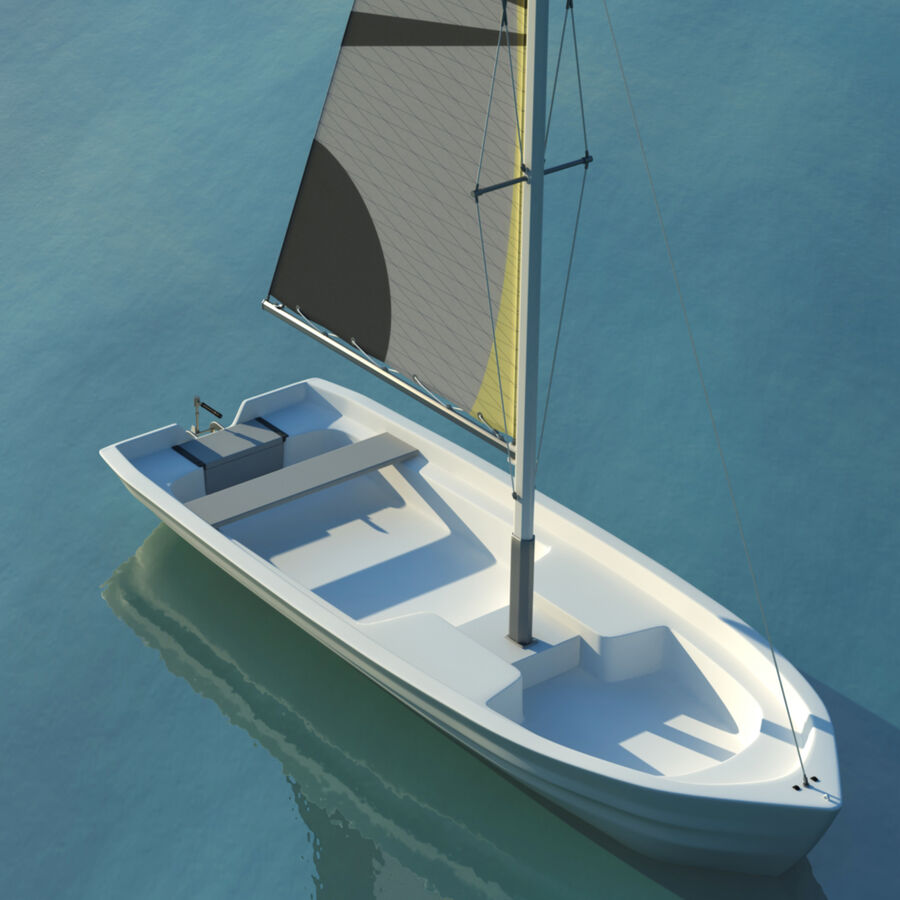 Kleines Segelboot royalty-free 3d model - Preview no. 2