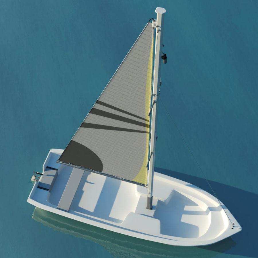 Small sailboat royalty-free 3d model - Preview no. 4