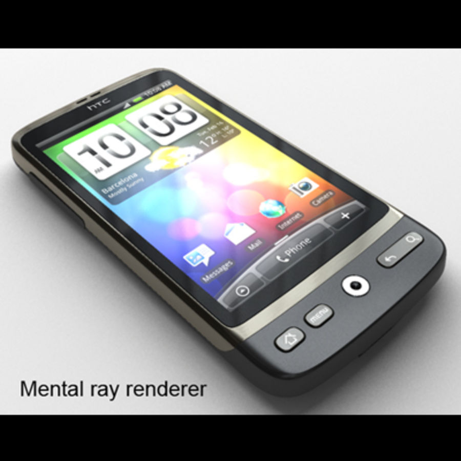 HTC Desire royalty-free 3d model - Preview no. 23