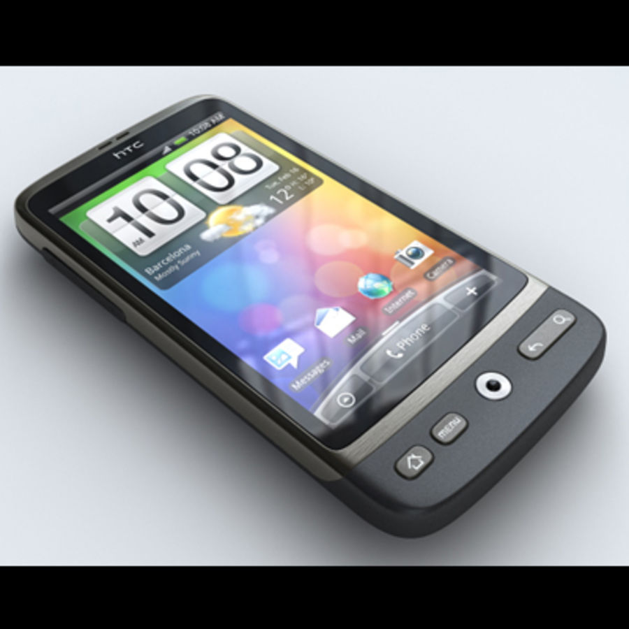 HTC Desire royalty-free 3d model - Preview no. 1