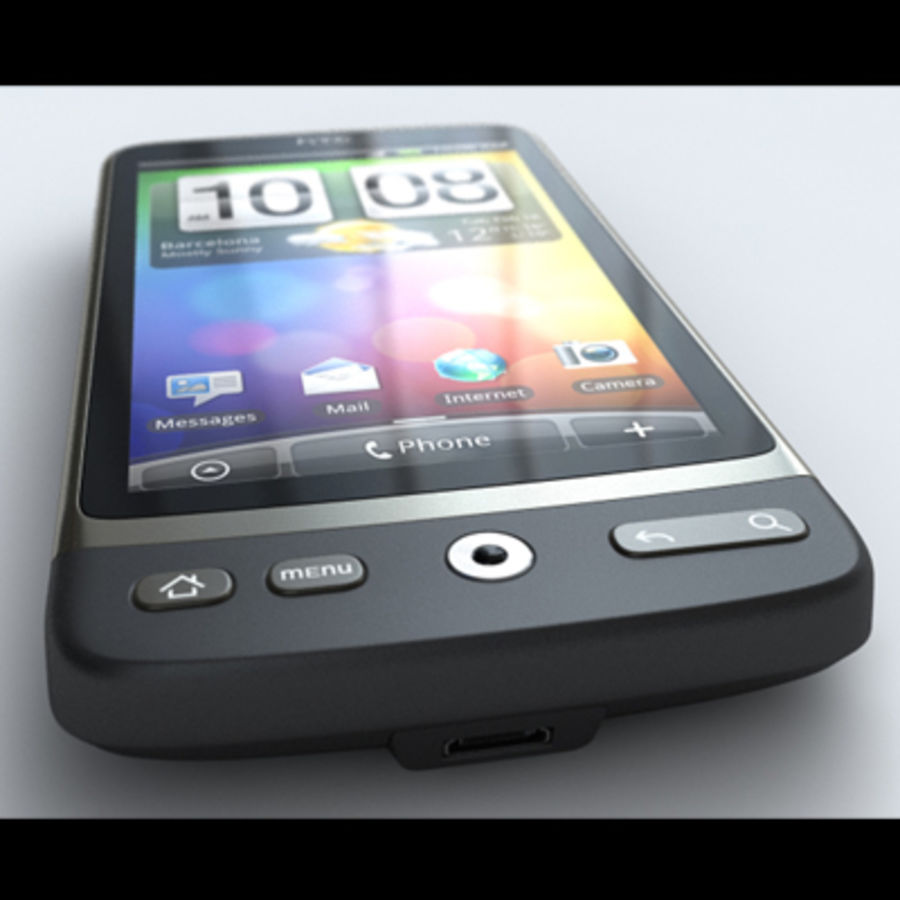 HTC Desire royalty-free 3d model - Preview no. 5