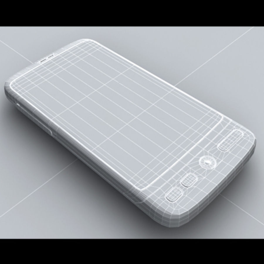 HTC Desire royalty-free 3d model - Preview no. 21