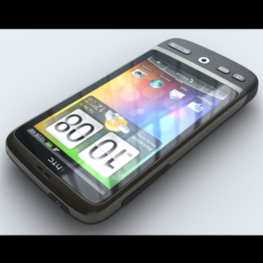 HTC Desire royalty-free 3d model - Preview no. 4